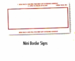 Mini Border-Signs (250/Box) - Product Image