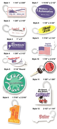 Plastic Key Fobs / Mini-Plate Key Fobs - Product Image