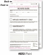 2-Part Buyers Guide - Implied Warranty - Adhesive Top and Bottom - Product Image