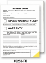 2-Part Buyers Guide - Implied Warranty - No Tape/Adhesive (file copy) - Product Image