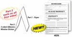 2-Part Pressure Sensitive Buyers Guide - Manufacturer Warranty/As Is - Seals all 4 Sides - 2017 Version - Product Image