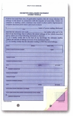 Lease Odometer Disclosure Statements - Form #ODOM-489L - Product Image