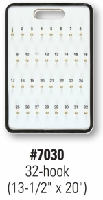 32-Hook Wall Mount Key Board - Product Image