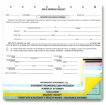 Sold Vehicle Combination Form - Form #SV-8 - Product Image