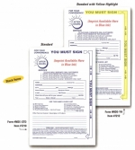 Night Drop Envelopes - Standard With Yellow Highlight - Form #NDE-STD - Product Image