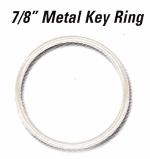 7/8 in Standard Gauge Metal Key Rings - Product Image