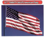 V-T Thrifty Salute American Flag - Embroidered Nylon - 3ft x 5ft - Product Image