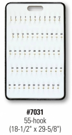 55-Hook Wall Mount Key Board - Product Image