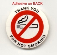 No Smoking Adhesive Decal - Clear Polyester - Pkg 250 - Product Image