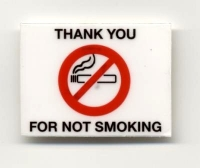 No Smoking Static Cling Decal - Pkg 250 - Product Image