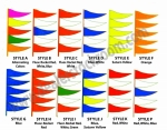 Antenna Pennants -- Fluorescent or Regular Colors - Product Image