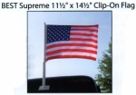 BEST Supreme Two-Sided Clip-On American Flag - Product Image
