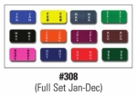 Color Code Month Labels - Full Set - Ringbooks - Product Image