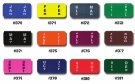 Color Coded Month Labels - Ringbooks of 270 - Product Image
