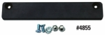 Demo License Plate Holders - Extruded Rubber-Coated Bar Magnet with Screws - Product Image
