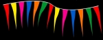 "Fluorescent Plasticloth 4"" x 18"" Tornado Pennant Strings - Product Image"