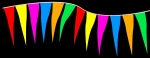 "Fluorescent Plasticloth 6"" x 18"" Icicle Pennant Strings - Product Image"