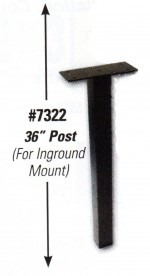 Inground Post for Night Drop Box - 36 inches  - Product Image