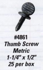 License Plate Screws - Thumb Screw - Metric - Product Image