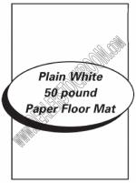Paper Floor Mats - Plain White Paper - Product Image