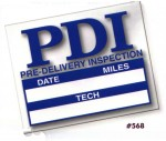 Pre-Delivery Inspection Stickers (100/Pack) - Product Image
