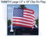 THRIFTY Single Pane Large Clip-On American Flags - Product Image