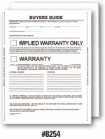 1-Part Pressure-Sensitive Buyers Guide - Implied Warranty - 2017 Version - Product Image