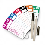 Top Stripe Key Tags - Product Image