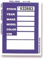 Numbered Kleer-Bak Stock Stickers - Product Image