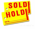 Jumbo Sold / Hold Tags - Product Image