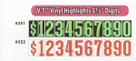 "V-T Vinyl Highlights - Windshield Numbers - 5 1/2"" - Product Image"