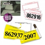 Pre-Numbered Stock Number Mini-Signs (250/Box) - Product Image