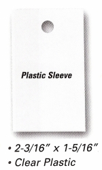 Plastic Sleeves for Vehicle Stock Numbers - Product Image