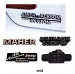 3 Dimensional Plastic Name Plate - Product Image