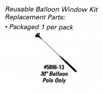 "30"" Balloon Pole Replacement for Reusable Balloon Window Holder Kits - Product Image"