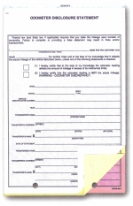 Odometer Disclosure Statements - Form #ODOM-65-3 - Product Image