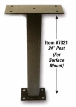 Surface Mount Pedestal for Night Drop Box - 24 inches - Product Image