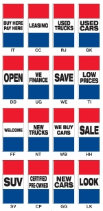 Giant Promotional Message Rotator Drape Flags - 3 1/2 ft x 7 1/2 ft - Product Image