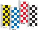 Checker Rotator Drape Flags 3ft x 8 ft - Product Image
