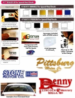 Prespaced Cut Vinyl Custom Dealer Decals - Premium Vinyl 13 sq. in. or less - Product Image