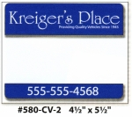 "Custom FULL COLOR IMPRINT ROS Sticker 4 1/2"" x 5 1/2"" - Product Image"