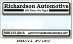 "Custom FULL COLOR IMPRINT ROS Sticker 4 1/2"" x 8 1/2"" - Product Image"