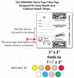 Auto Repair Service Versa-Tags - with Custom Dealer Imprint! - Product Image