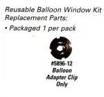 Balloon Adapter Clip Replacement for Reusable Balloon Window Holder Kits - Product Image