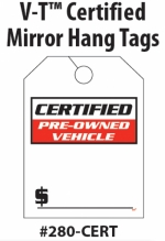 Certified Pre Owned Mirror Tags - Product Image