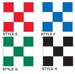 Checker Drape Flags 3ft x 3 ft - Product Image