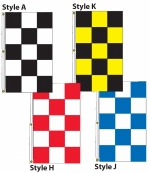Checker Drape Flags 3ft x 5 ft (Vertical) - Product Image
