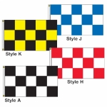 Checker Drape Flags 3ft x 5 ft - Product Image