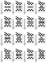 Checker Spacewalker Promo Message Flags - 3 1/2 ft x 5 1/2 ft - Product Image