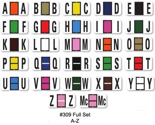 Color Code Alphabet Labels Full Set Ringbooks